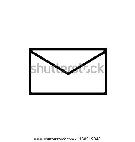 Mail Envelope Icon. Vector.