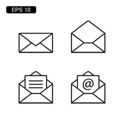 mail envelope icon vector illustration