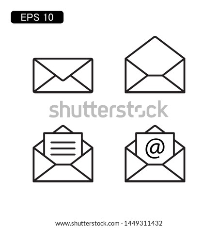 mail envelope icon vector illustration