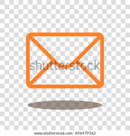 mail envelope letter icon vector isolated