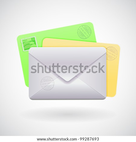 Mail Envelopes vector detailed illustration - stock vector