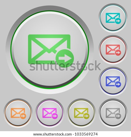 Mail forwarding color icons on sunk push buttons