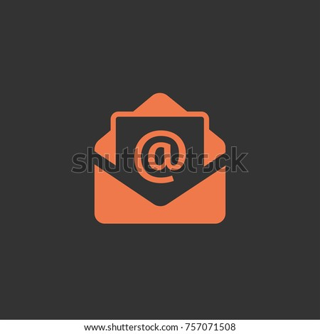 Mail icon. Email vector illustration.