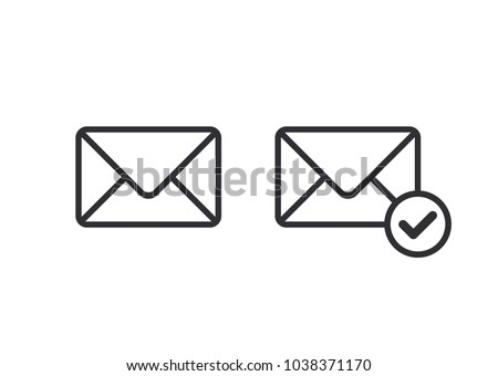 Mail icon. Envelope sign. Vector Illustration. Email icon. Letter icon. Email notification. Contact form.