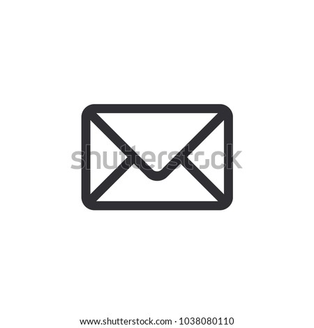 Mail icon. Envelope sign. Vector Illustration. Transparent background. Email icon. Letter icon. Mailbox. Contact form. Email notification.