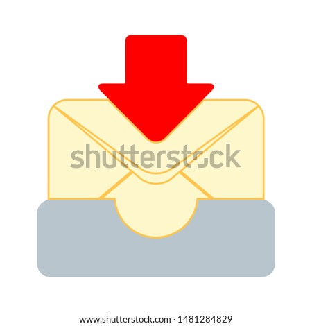 mail icon. flat illustration of mail vector icon. mail sign symbol
