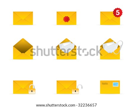 Mail Icon Set 3 Vector