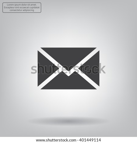 Mail icon. Vector