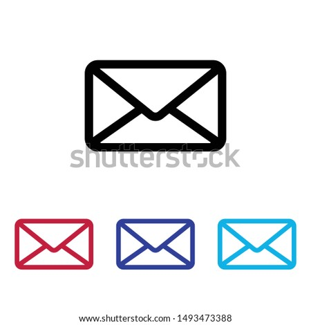 Mail icon vector, Email sign