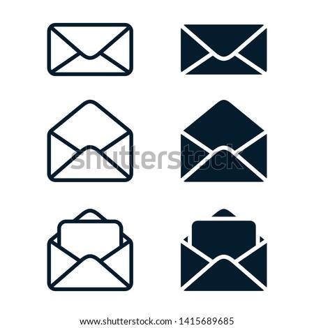 Mail Icon Vector. Envelope Set Illustration Design.