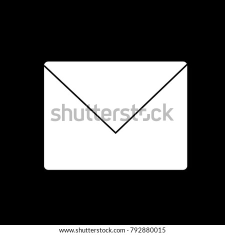 Mail icon vector isolated on black background. Trendy mail icon in flat style.Template for app, ui and logo. Icon mail for your web site. Modern mail icon, EPS 10
