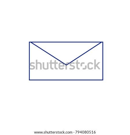 Mail icon vector isolated on white background. Trendy mail icon in flat style.Template for app, ui and logo. Icon mail for your web site. Modern mail icon, EPS 10