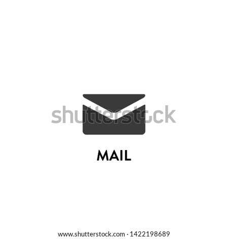 mail icon vector. mail vector graphic illustration