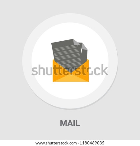 mail icon - vector send email - envelope icon - message sign and symbol