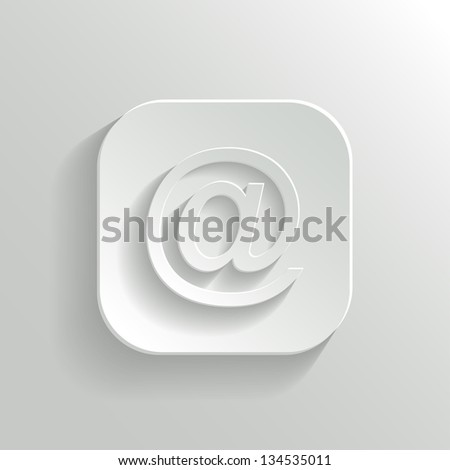 mail icon   vector white app