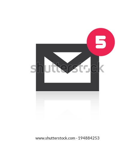 Mail Icon With Notification