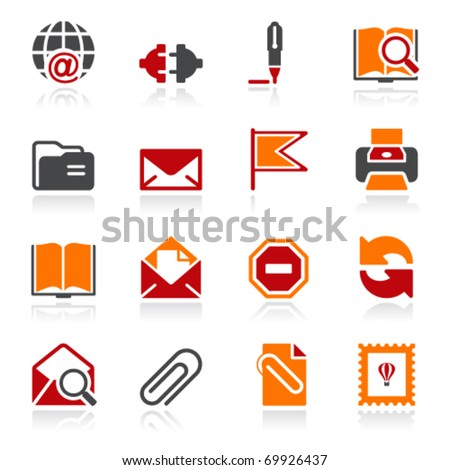 Mail icons. Color series.