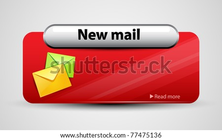 Mail interface with icon. Vector illustration.