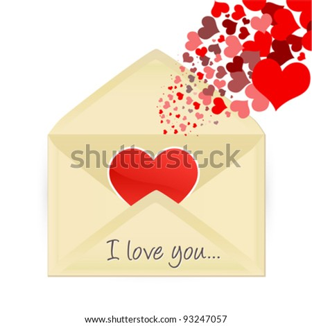 Mail opening with hearts