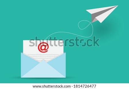 Mail sent and  Email marketing concept, vector design Photo stock ©