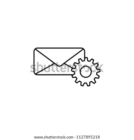 mail setup icon. Element of sosial media network icon for mobile concept and web apps. Thin line mail setup on white background