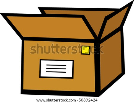 Mail Shipping Package Stock Vector Illustration 50892424