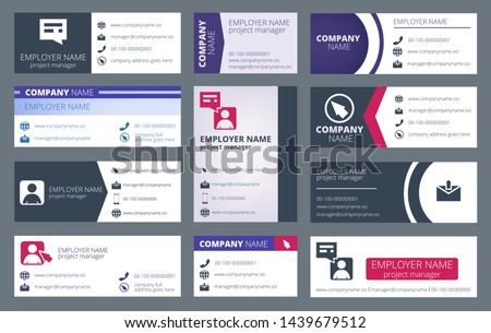 Mail signature. Individual text web mailing interface individualize signature forms vector template. Illustration of profile contact ui, emailing user card