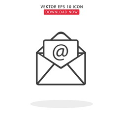 Mail Simple Vektor With White Backgorund