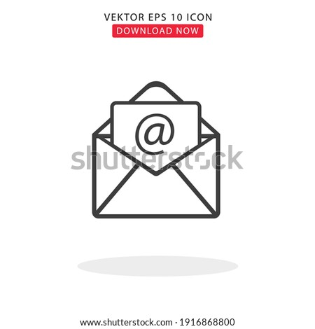 Mail Simple Vektor With White Backgorund Stock foto ©