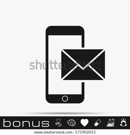 Shutterstock mail smartphone icon