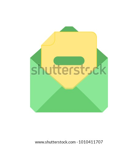 Mail symbol. Envelope icon. Substract envelope. Sign design. Vector Flat illustration