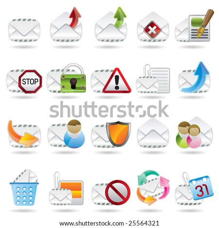 Mail Vector and Letter Icons