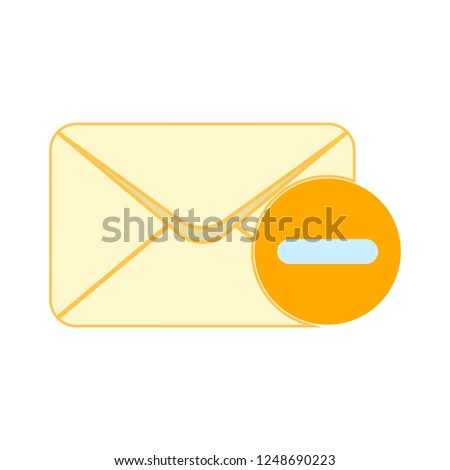 Mail vector icon. E-mail icon, Envelope illustration, message