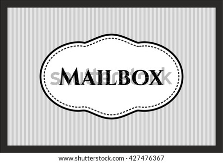 Mailbox colorful card, banner or poster with nice design