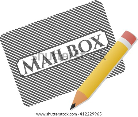 Mailbox draw with pencil effect
