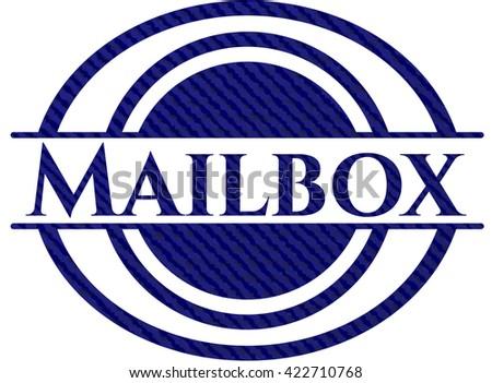 Mailbox emblem with jean texture