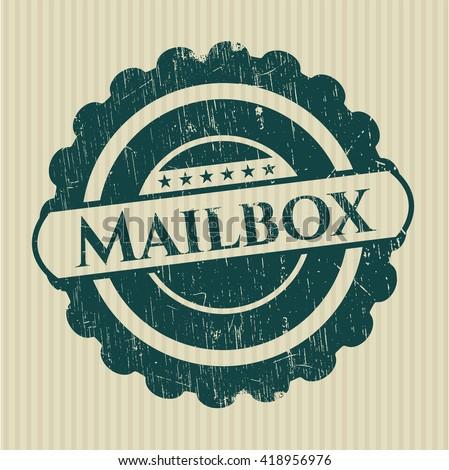 Mailbox grunge stamp