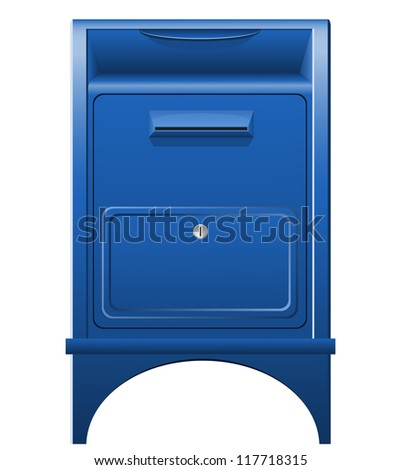 mailbox icon vector illustration isolated on white background