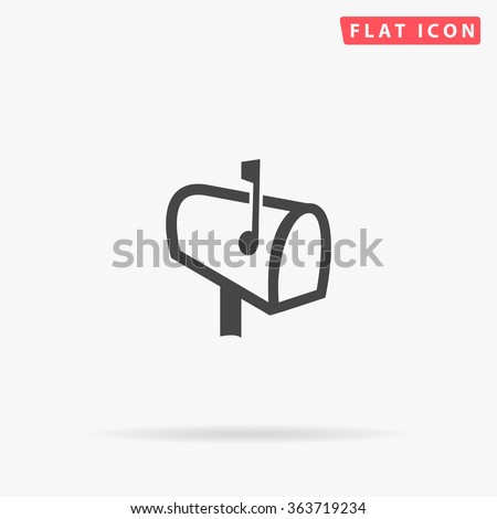 Mailbox Icon Vector. Simple flat symbol. Perfect Black pictogram illustration on white background.