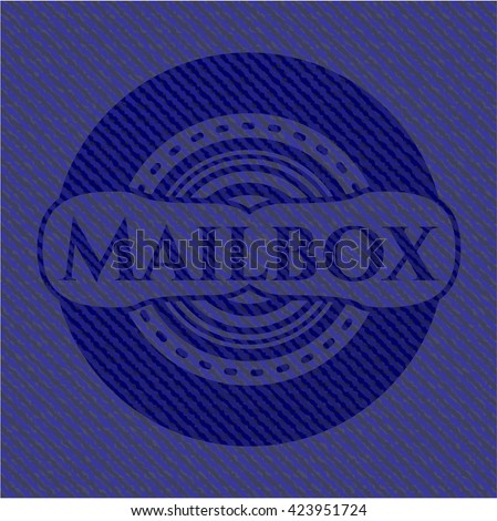 Mailbox jean background