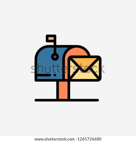 Mailbox letterbox concept line icon. Simple element illustration. Mailbox letterbox concept outline symbol design. Can be used for web and mobile UI/UX . Modern vector style.modern vector style.