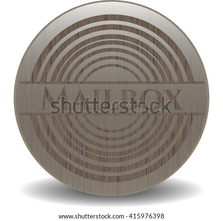 Mailbox realistic wooden emblem