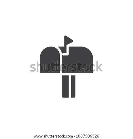 Mailbox vector icon. filled flat sign for mobile concept and web design. Mail box simple solid icon. Symbol, logo illustration. Pixel perfect vector graphics