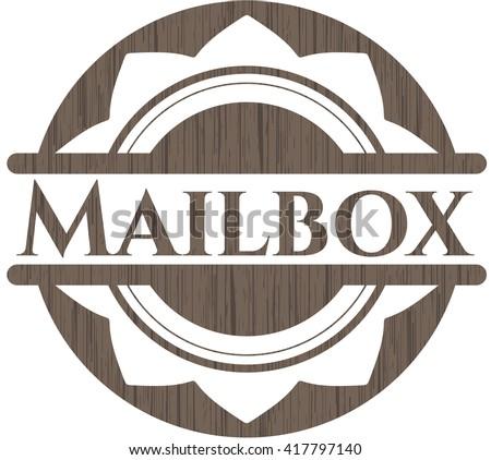 Mailbox wood emblem. Retro