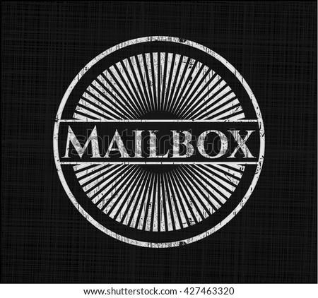 Mailbox written with chalkboard texture