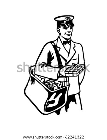 Mailman - Retro Clipart Illustration