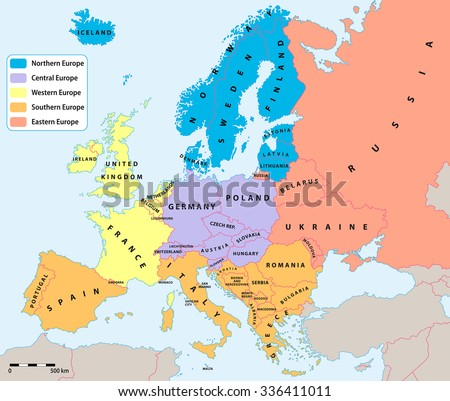 Free lithuania map vector download free vector art stock graphics main european regions map all data are in layers for easy editing vector map gumiabroncs Choice Image
