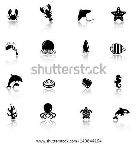 maine life icon set