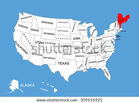 Blank Outline Map Of USA Download Free Vector Art Stock - Blank Map Of Us To Label