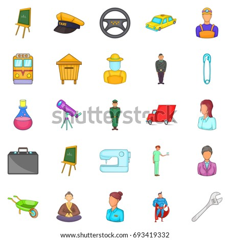 Maintain icons set. Cartoon set of 25 maintain vector icons for web isolated on white background